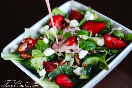 Strawberry Greens Salad