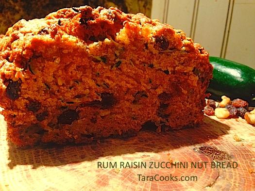RUM RAISIN ZUCCHINI NUT BREAD
